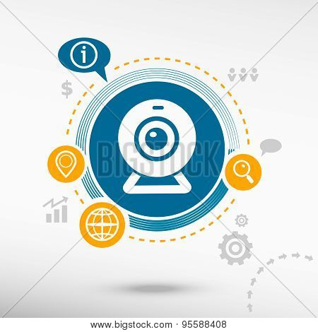 Webcam Sign Icon. Creative Design Elements.