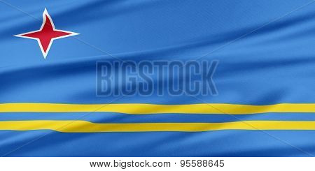 Aruba Flag.