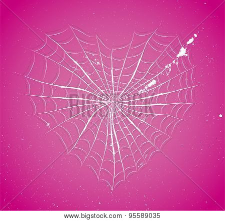 Cobweb heart.