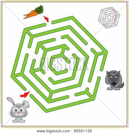 Rabbit Or Hare Must Go To Carrot And Not To Fall Into The Clutches Of The Wolf