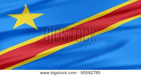 Democratic Republic Of The Congo Flag.