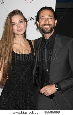 LOS ANGELES - JUL 9:  Lara Lieto, Adrian Brody at the