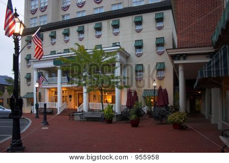 Early Morning Hotel Exterior