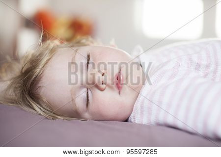 Peaceful Face Of Baby Sleeping