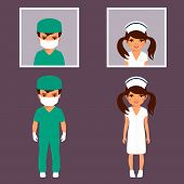 picture of medical staff  - surgeon and nurse personnel - JPG