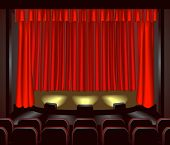 foto of movie theater  - an empty theatre stage for you to place what you like on - JPG