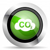 stock photo of carbon-dioxide  - carbon dioxide icon - JPG