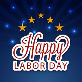 image of labor  - illustration of a colorful stylish text for Labor Day - JPG