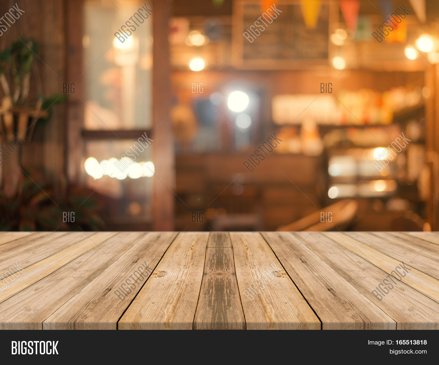 Wooden Board Empty Table Top On Image & Photo | Bigstock