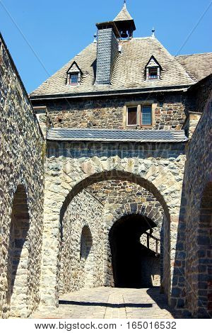 Entrance to the medieval castle of Altena (North Rhine-Westphalia, Germany)