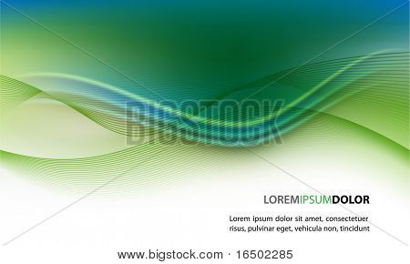 Abstract Clean Vector Wave Background