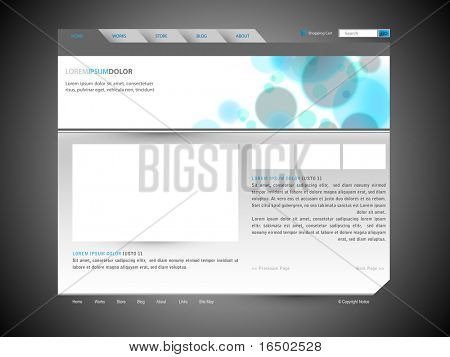 Modern Clean Web Site Design Vector Template With Banner Design