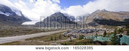 Jasper, Canada - September 7, 2016: Columbia Icefield On 7 Septe