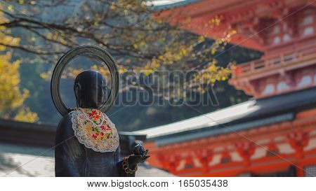 statue of temple in japan very nice