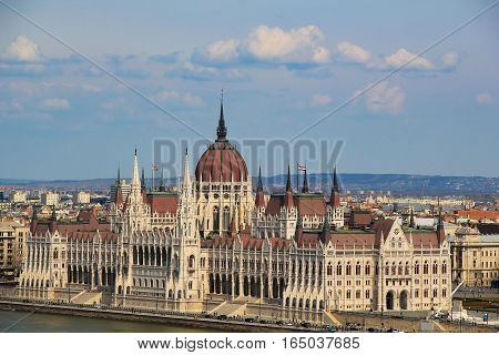 View on  the Hingarian Parlament in Budapest