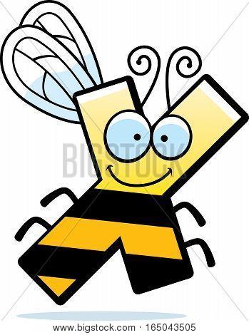Cartoon Letter X Bug