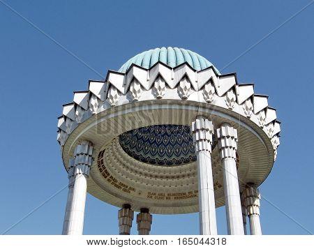 Detai of the Alisher Navoi Memorial in Tashkent Uzbekistan September 12 2007