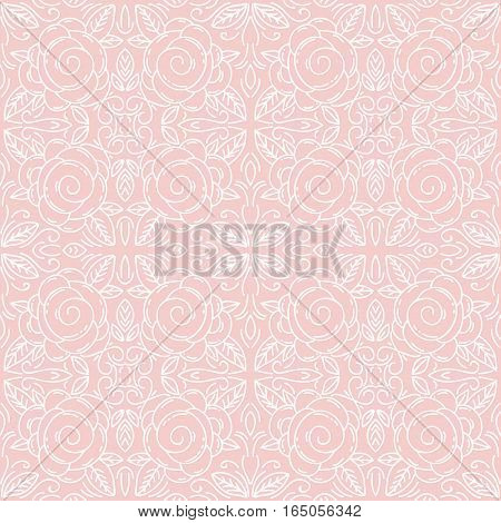 Pink floral seamless patterns Ideal for printing onto fabric and paper or scrap booking.