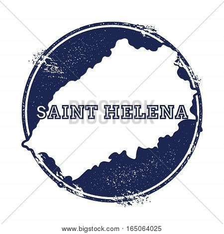 Saint Helena Vector Map. Grunge Rubber Stamp With The Name And Map Of Island, Vector Illustration. C