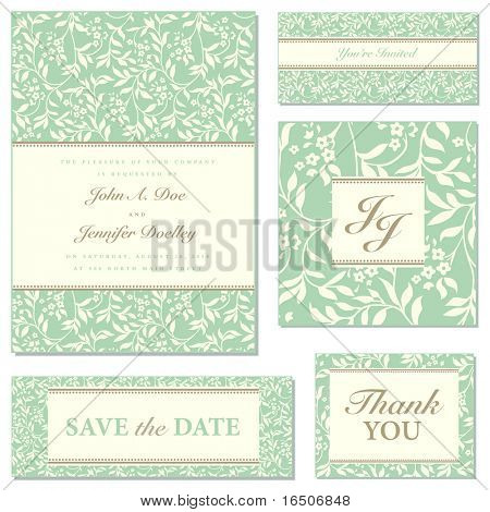 Set of ornate vector wedding frames. Easy to edit. Perfect for invitations or announcements.