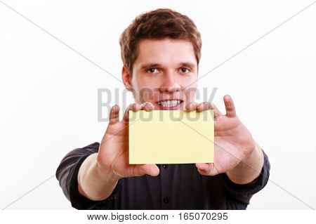 Young Man With Piece Of Paper.
