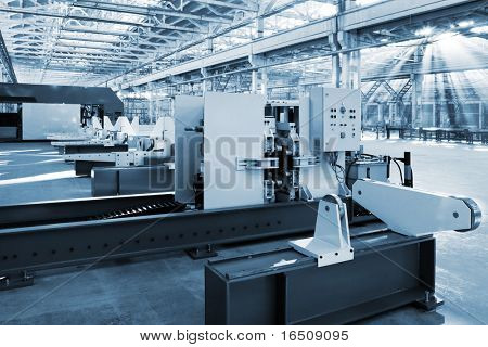 new and powerful metalworking machine in modern workshop