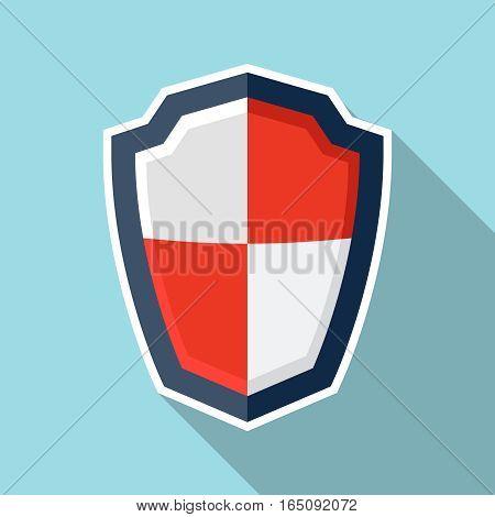 Shield illustration, design element for mobile and web applications, eps 10