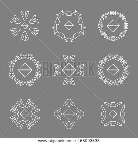 abstract white line arrow icon logos set,vector Illustration EPS10