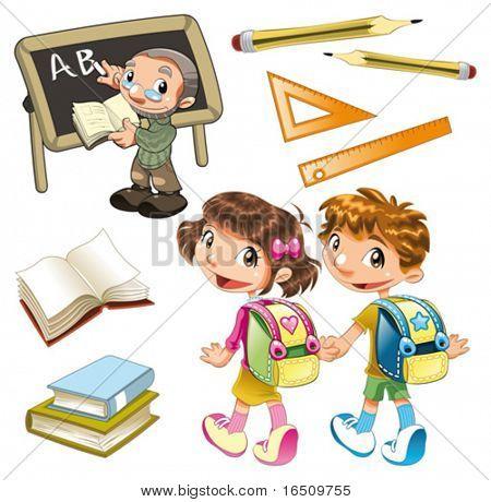 Schule-Elemente