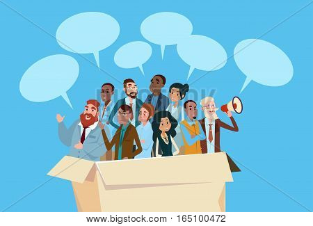 Business People Candidate In Box People Group Businesspeople Human Resources Crowd Flat Vector Illustration