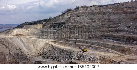 large quarry mining of minerals and rocks
