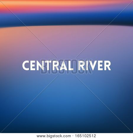 square blurred turquoise background - sky water sea colors With text central river