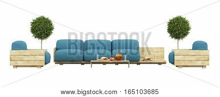 Garden Furniture Isolated On White