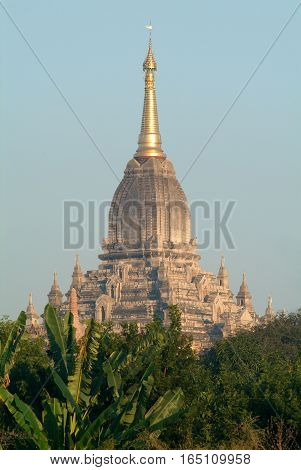 Gawdawpalin temple at the archaeological site of Bagan on Myanmar