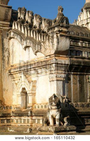 Detail of Ananda temple at Bagan on Myanmar