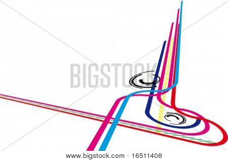 Vector Abstract techno background (Raster version 18110428)