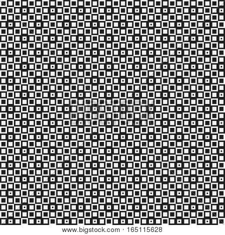 Strict Pixelated Seamless Pattern In Corporate Style. Useful For Web Backgrounds, Textile Or Interio