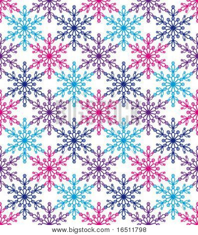 Vector Seamless background elegant snowflakes (See raster version  Also In My Portfolio)