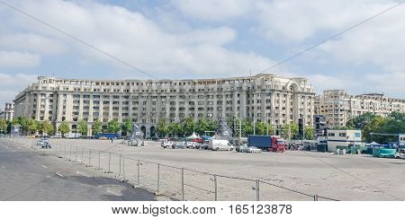 Bucharest, Romania - September 19, 2015. The Square