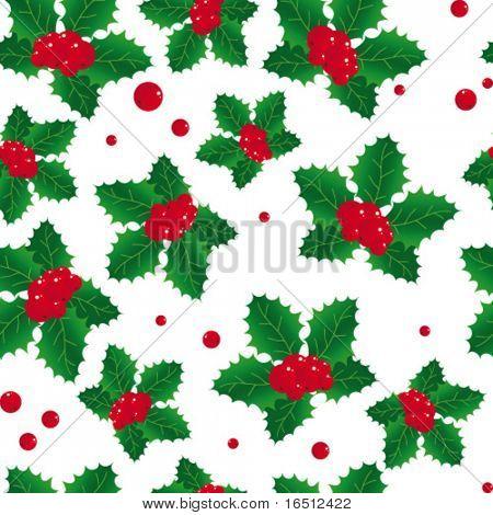 Vector seamless  Background Christmas poinsettia