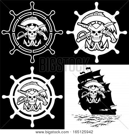 Pirate symbols. The file has three layers.