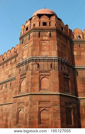 Lal Quila or Red Fort a monument in Delhi