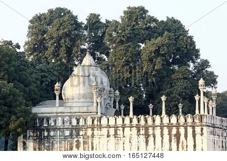 A white Building at Red Fort Delhi