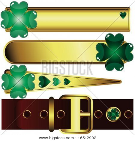 Vector  A set elements of St. Patrick's Day