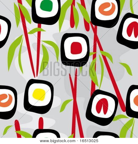 Sushi de fondo transparente de Vector