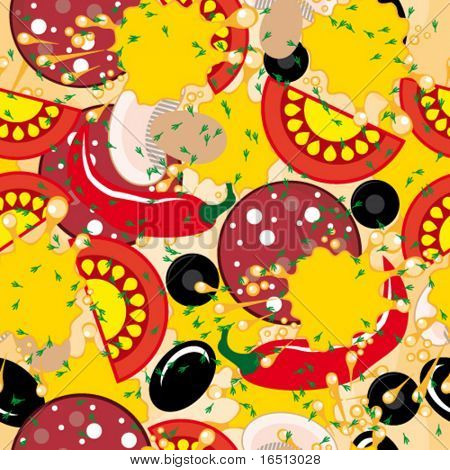 Vector Seamless background - Pizza
