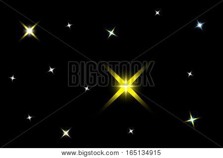 dark background with stars , starry sky