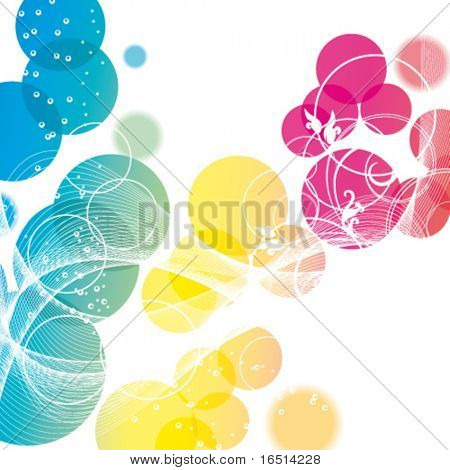 Flower Background with transparent bright glare