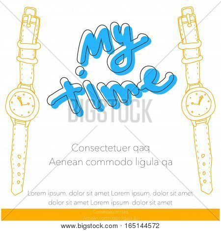 watch sketch business graphics brochures design templates