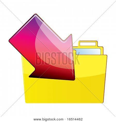Arrow with a folder